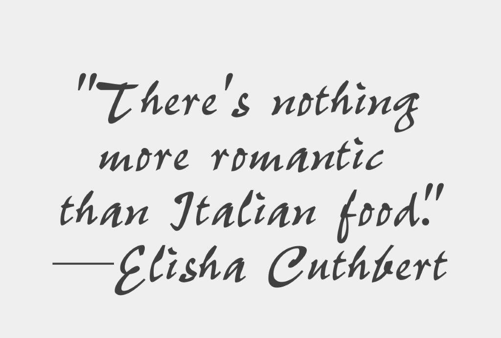 Food quote italian food