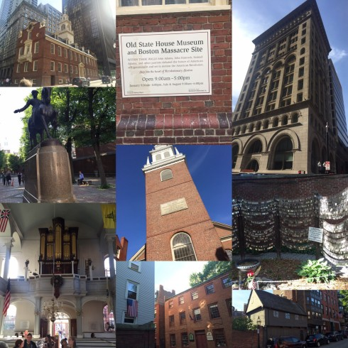 Some of the sights on our walking tour of Boston.