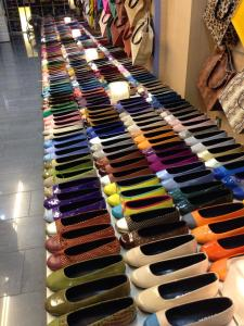 Shoes in every possible colour combination. (Barcelona 2013)