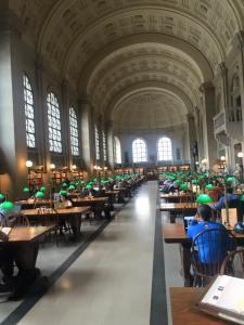 Always visit the city public library. (Boston 2015)