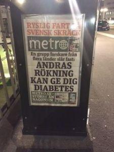 diabetes newspaper in Stockholm