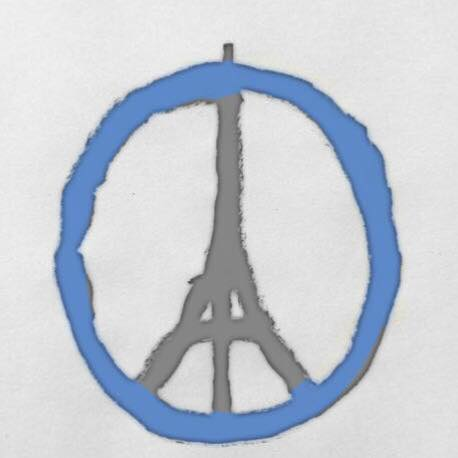 Jean Julien's 'Peace for Paris' sketch gets the WDD treatment.