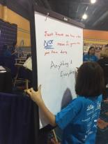 Her thoughts at the #IWishPeopleKnewThatDiabetes stand at FFL this year.