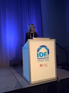 Annie giving an incredibly eloquent and moving presentation about diabetes in her family, sharing her daughter's story.